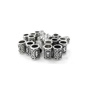 Серебряные бусины с рунами Футарк