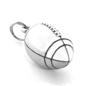 Мяч Регби. Серебряная подвеска