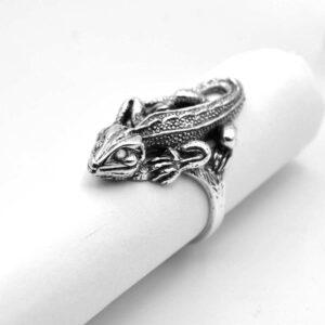 Кольцо Саламандра из серебра